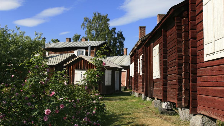 Husgränder från Öjeby kyrkstad