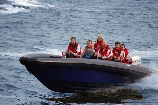 Teambuilding på havet är en av aktiviteterna på Ugglarp.nu, som ligger utmed kusten mellan Halmstad och Falkenberg