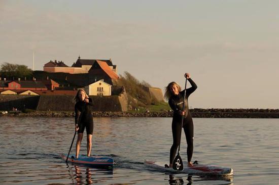 Stand up paddling med Supcoachen vid Varbergs Fästning