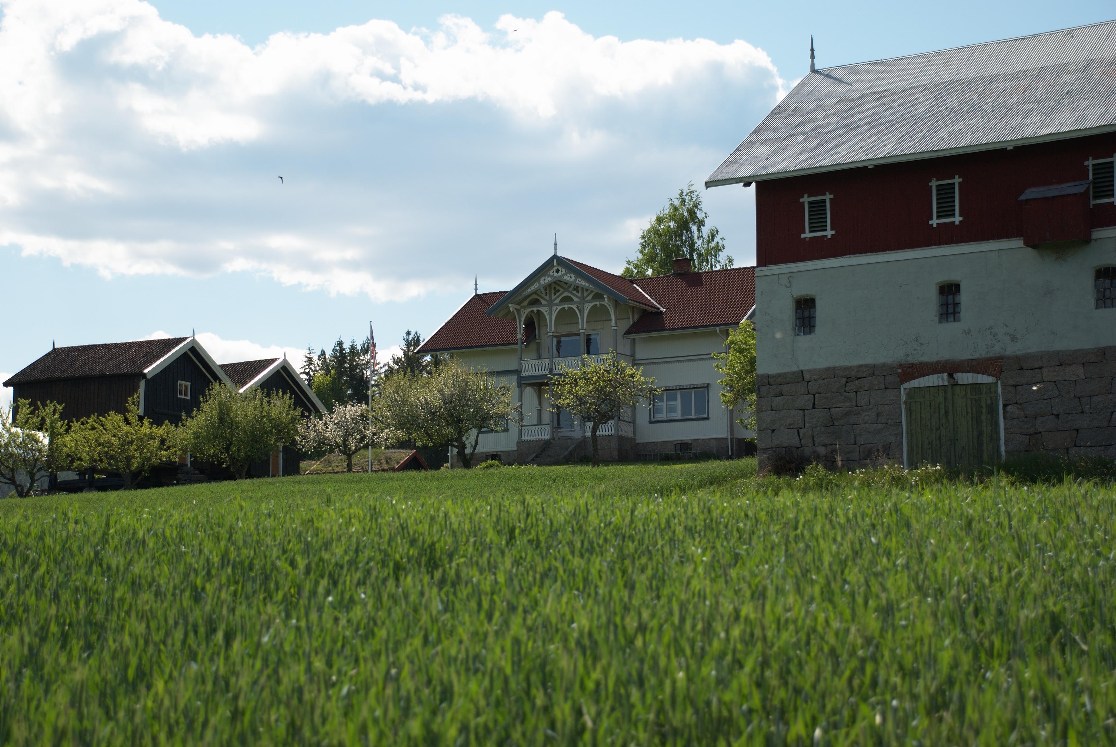 Børte gardturisme med tradisjonelle stabbur. , © Bø gardsturisme
