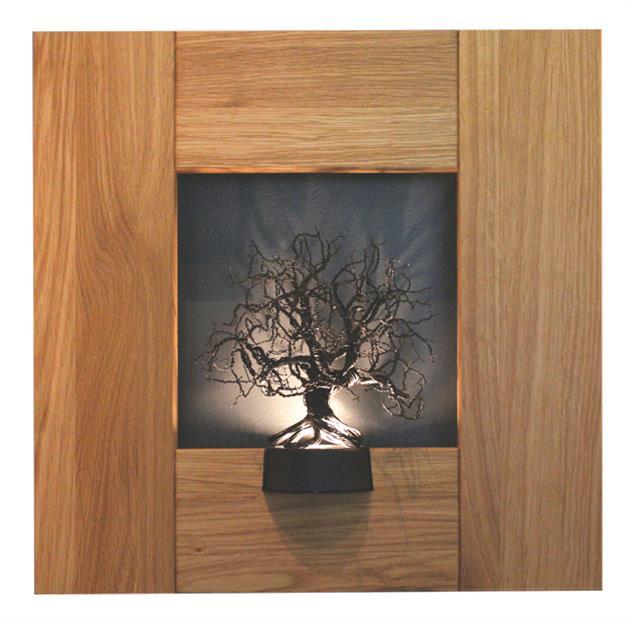 Träram med träd i luffarslöjd, Niklas Originella
