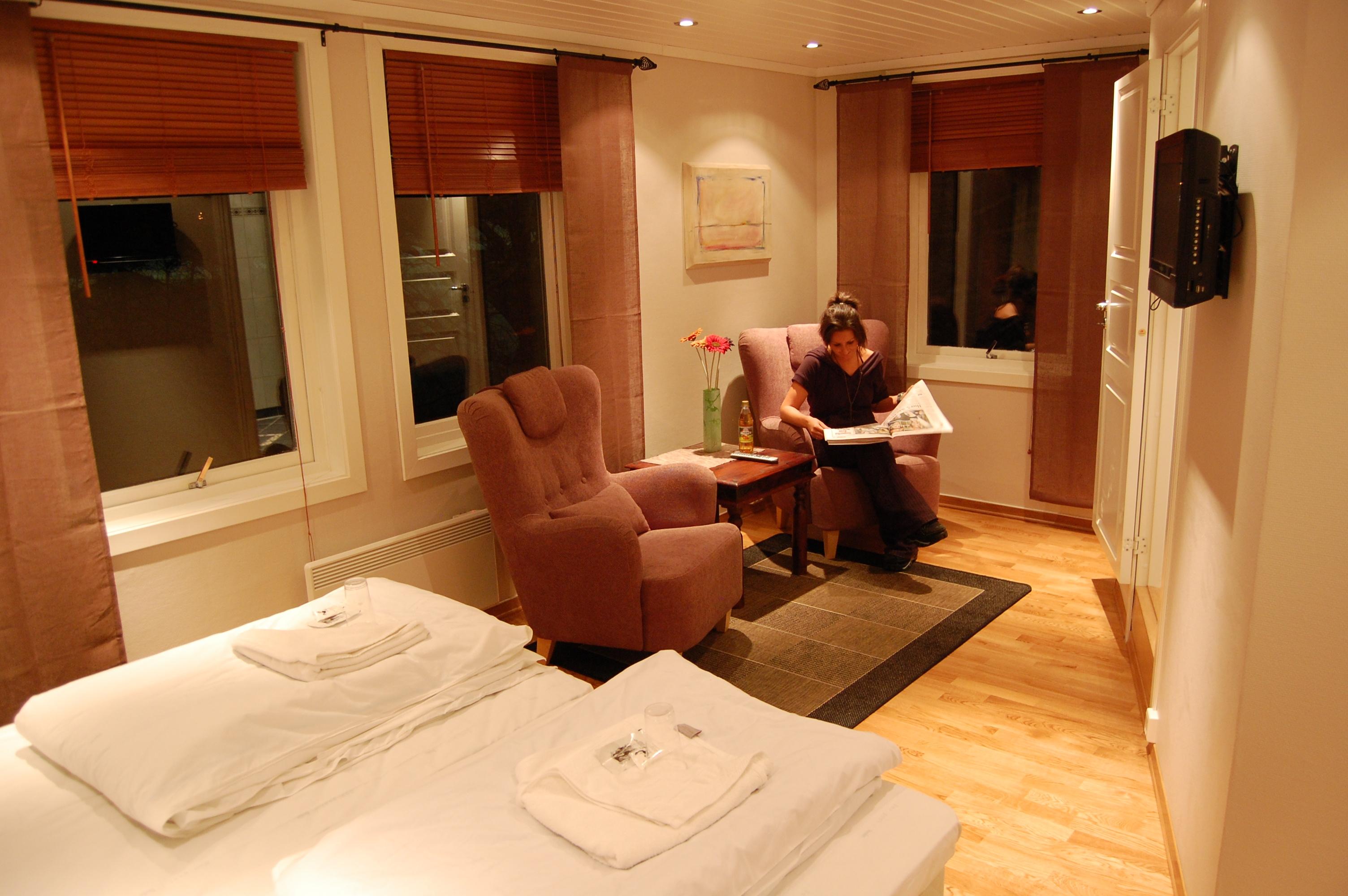 De nye rommene på Rjukan Gjestegård har hotellstandard. , © Rjukan Gjestegård