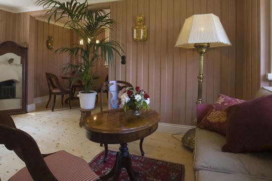 Vardagsrummet i Grindstugan på Tjolöholms Slott utanför Kungsbacka