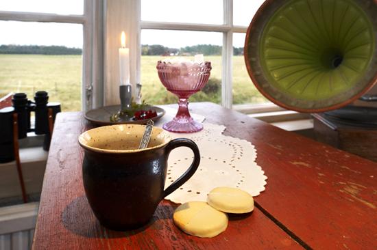 Njut av en kopp kaffe, lugnet och den vackra utsikten på Charlottenlund Countryside Hylte