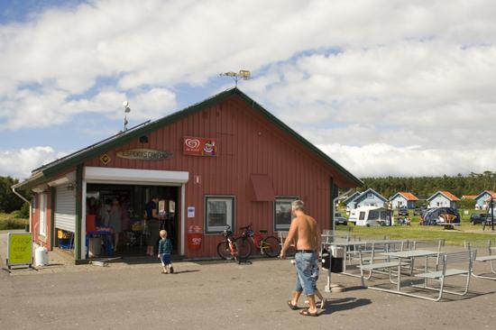Servicebyggnad på Espeviks camping