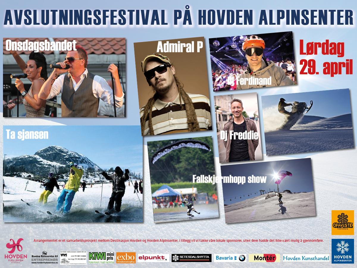 Avslutningsfestival på Hovden Alpinsenter