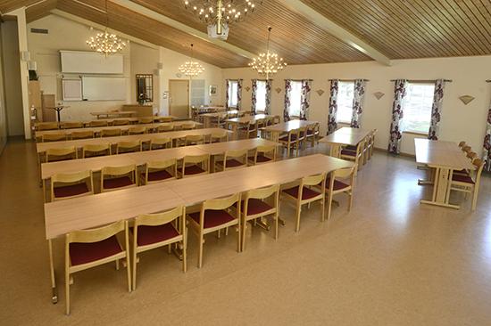 Föreläsningssal på Gullbrannagården i Halland