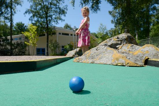 På Gullbrannagården finns massor av aktiviteter för stora och små, minigolf, tennis, BMX-bana, linbana, boulebana och mycket mer.