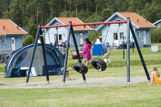 Lekplatsen på Espeviks camping