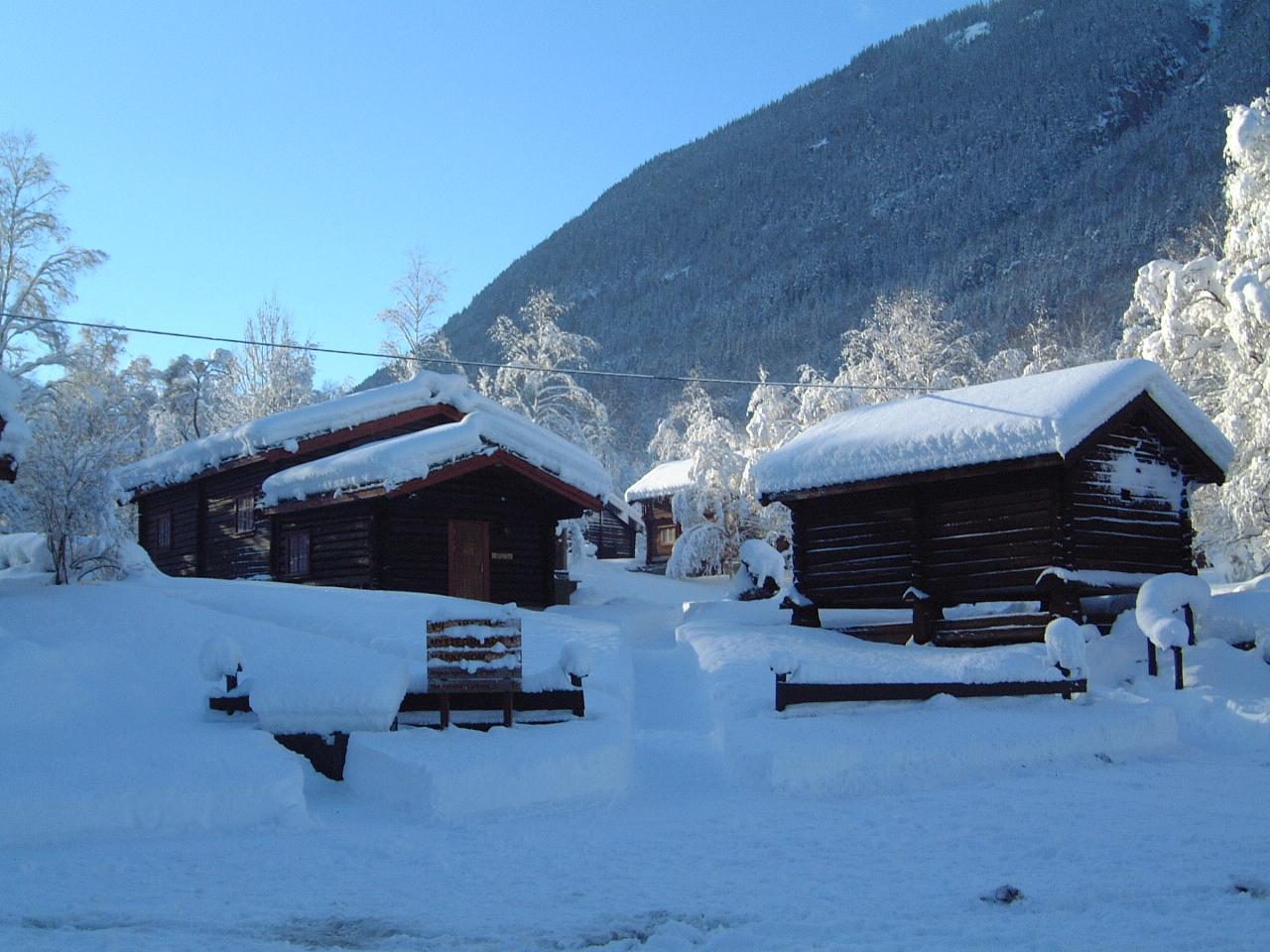 Rjukan Hytte og caravanpark har vinterisolerte hytter som gjør hytteutleie mulig hele året , © Rjukan Hytte og Caravanpark