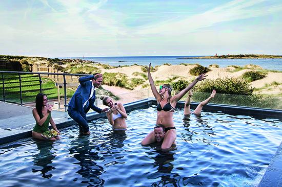 Konferens, spa och pool på Hotel Tylösand