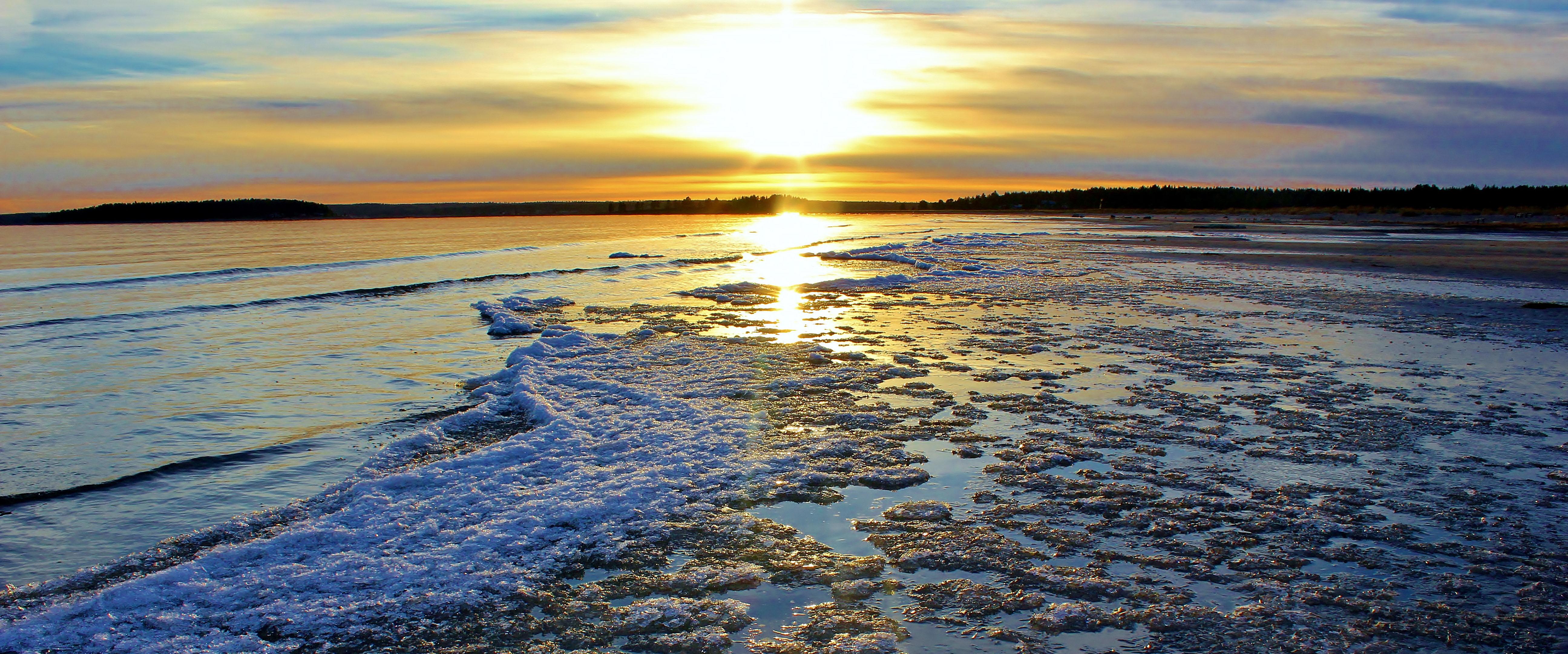 Sandängesstranden i vintersol