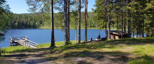 Nävertjärn accessible pier, Terese Lindbäck