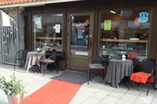 Centralt beläget glasscafé i Varberg med svensk kvalitetsglass från Lejonet & Björnen.