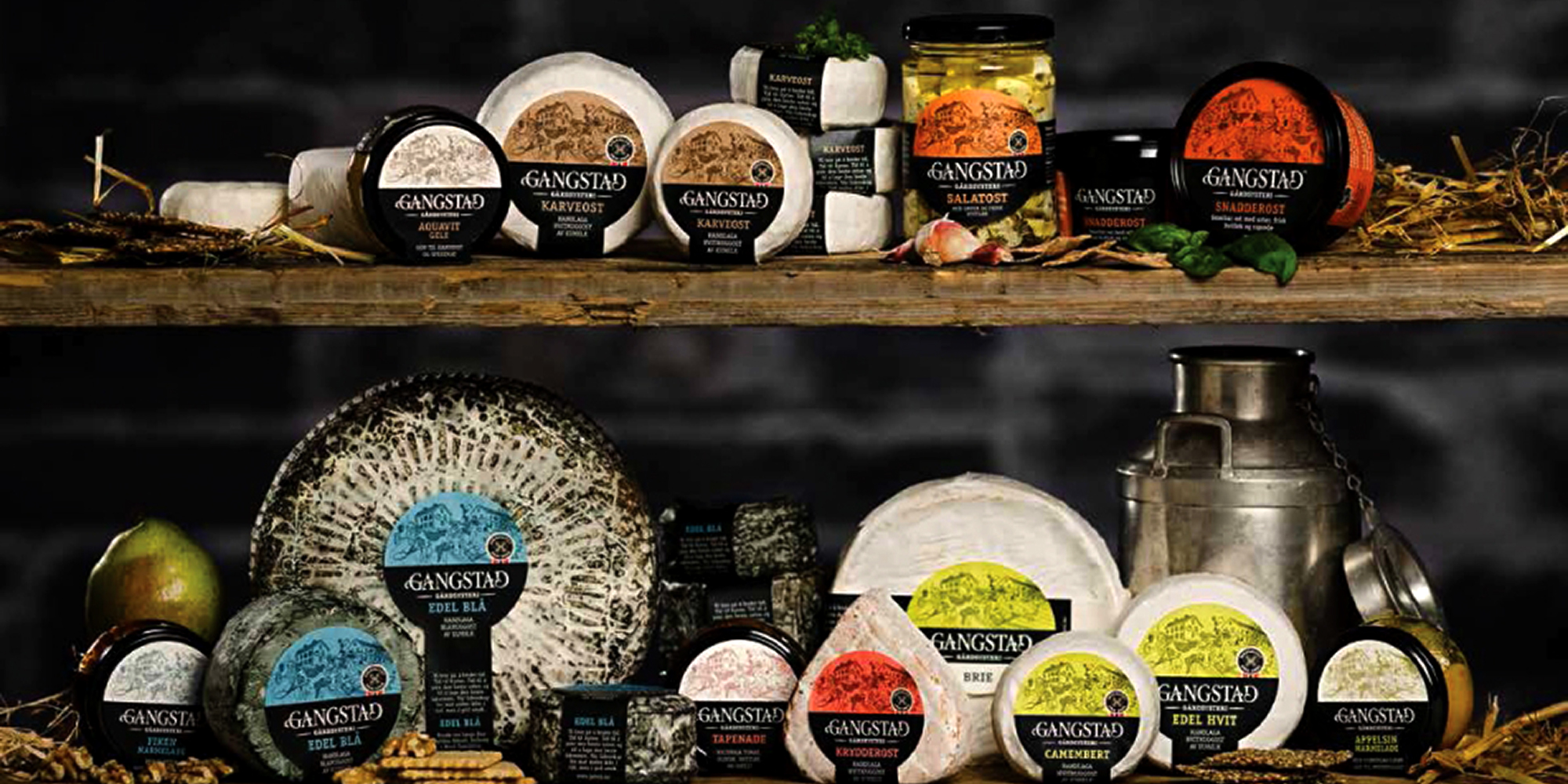Gangstad gårdsysteri - the products. Copyright: Gangstad gårdsysteri