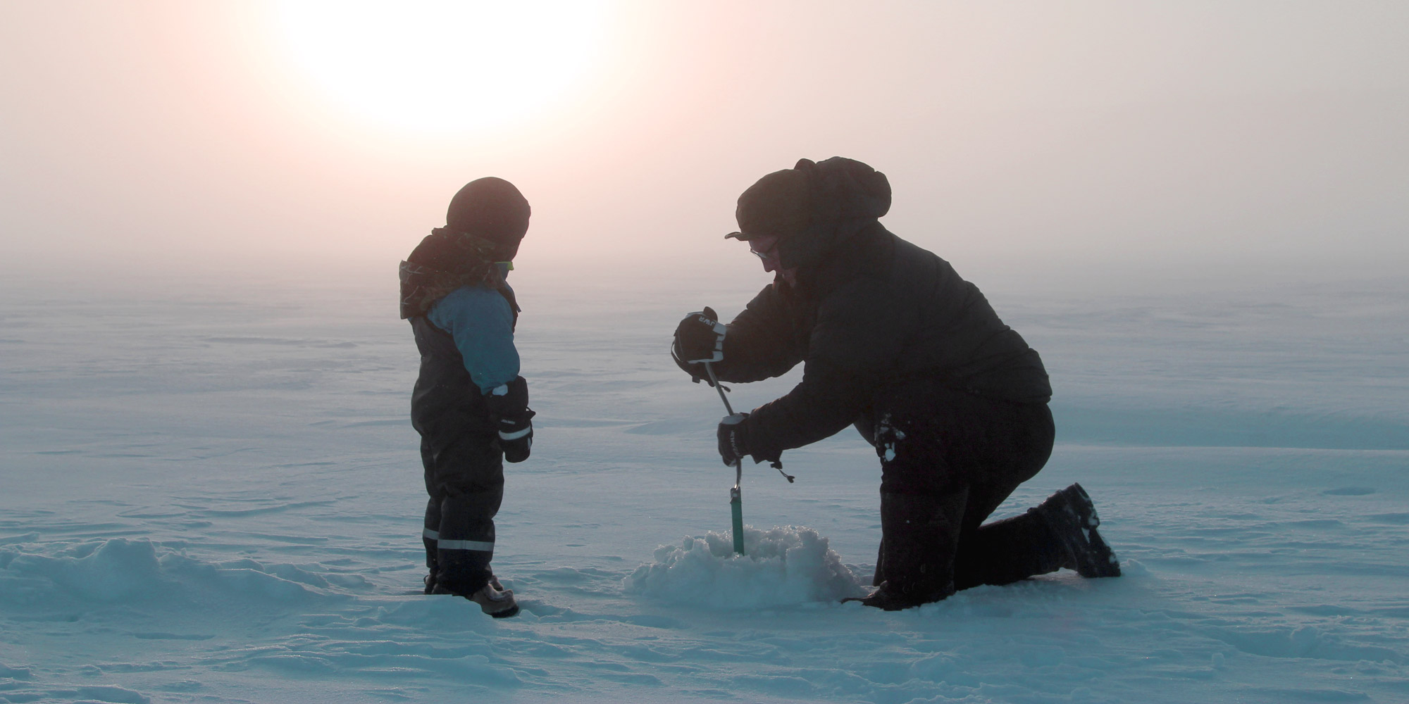 Ice Fishing - father and son. Copyright: Vistit Innherred