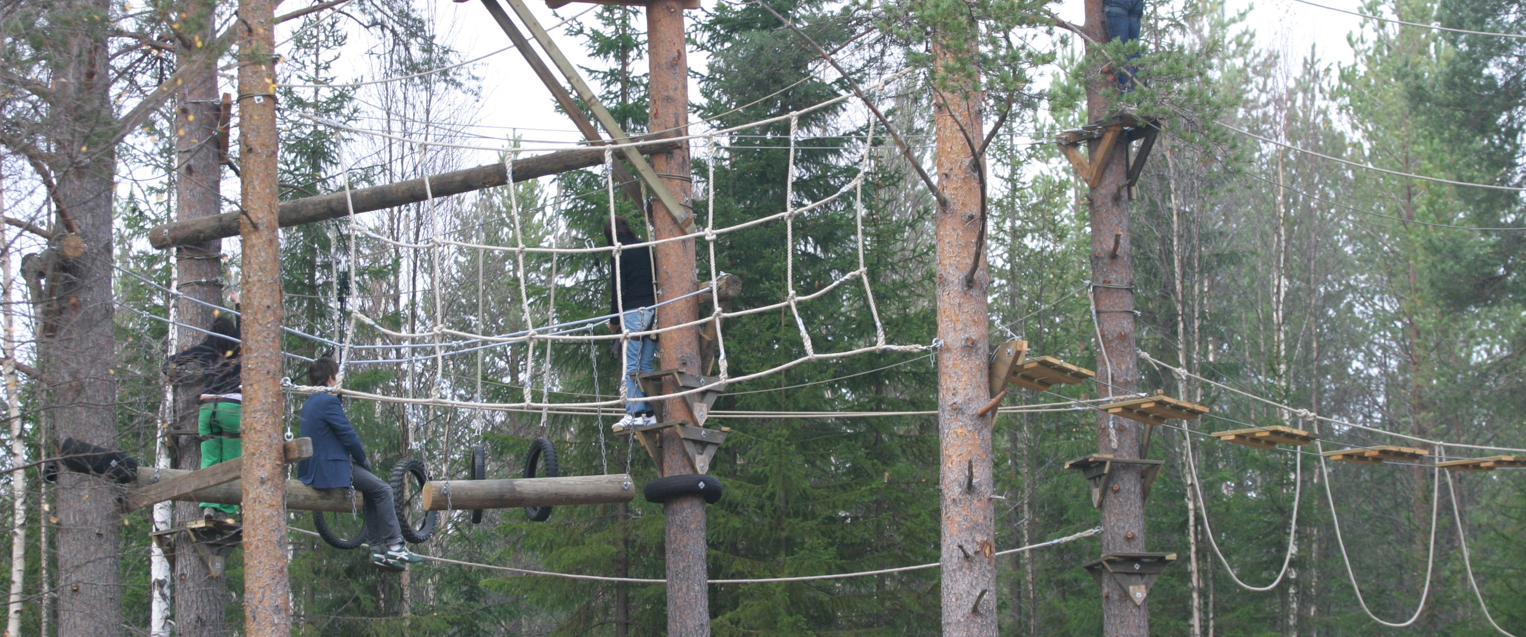 High rope course at Paintballtorpet