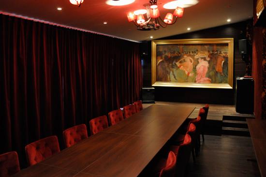 Laxbutiken i Heberg har konferenslokaler av olika storlek och karaktär, bland annat Moulin Rouge.