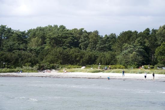 De närmaste campingplatserna ligger endast 20 meter från havet