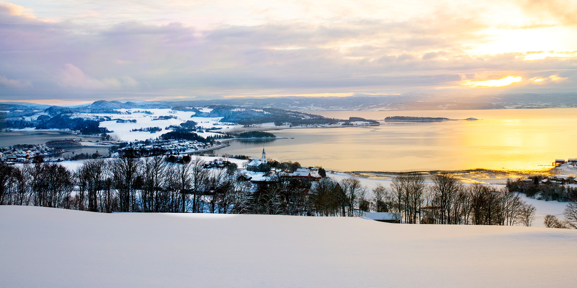 The view from Husfrua Country Farm Hotel in Winter. Photo: Lena Johnsen. Copyright: Den Gyldne Omvei