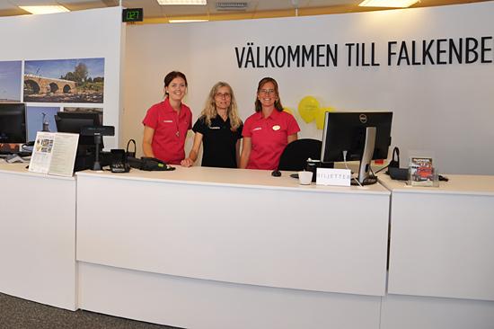 Falkenbergs Turistinformation ligger centralt vid torget i Falkenberg
