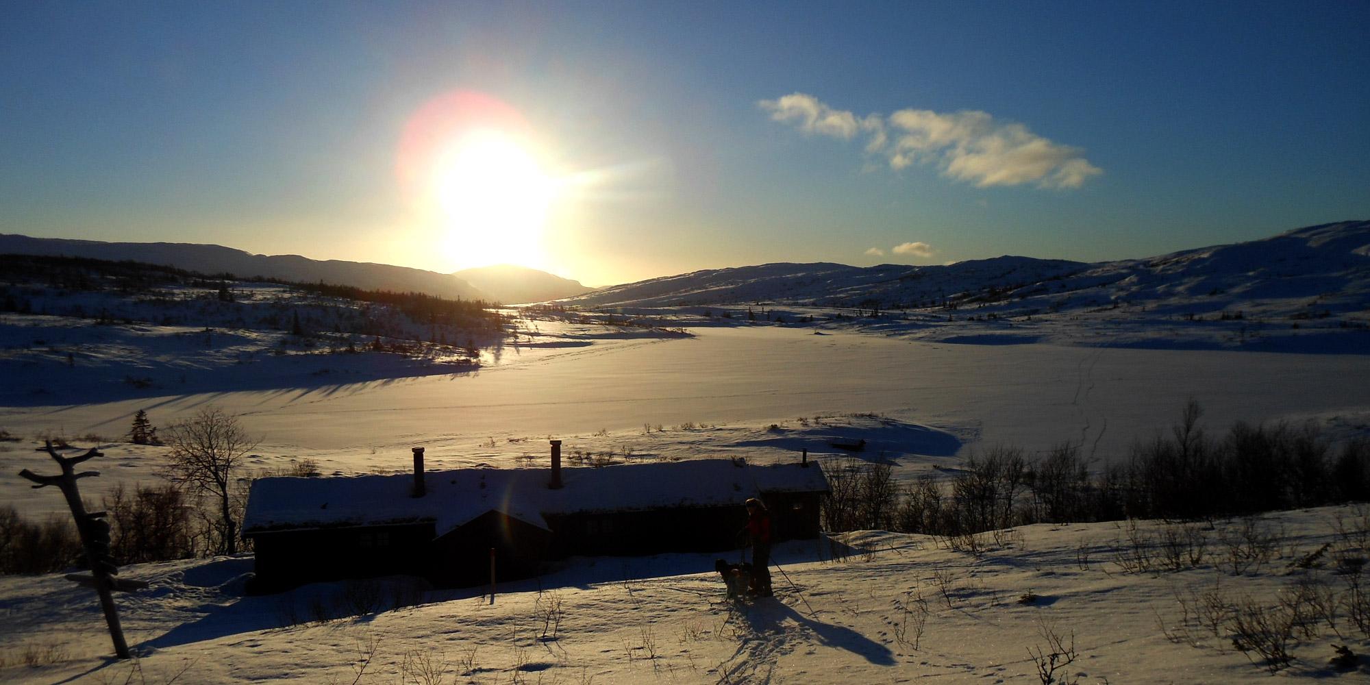 Lågvassbu cabin in winter. Copyright: Steinkjer Kommuneskoger - Ogndalsbruket