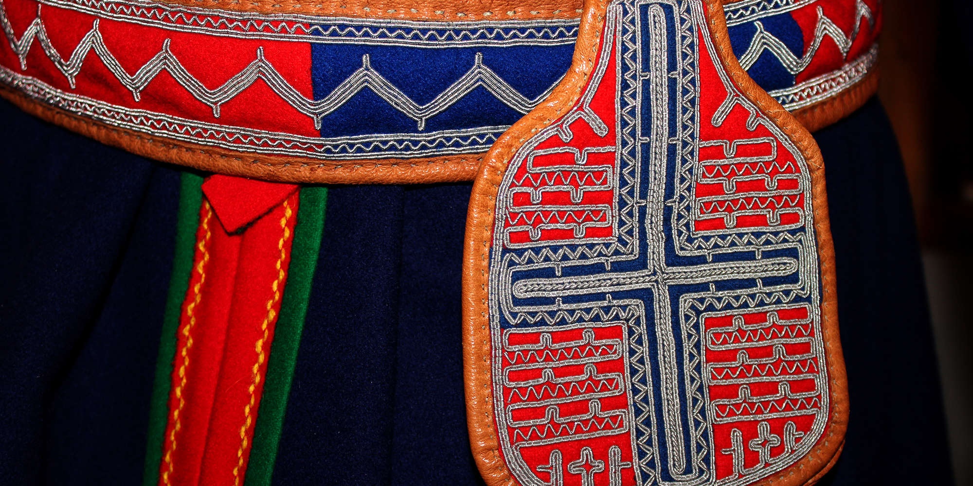 Saemien Sijte - traditional belt for a man. South Sami museum in Snåsa . Copyright: Saemien Sijte
