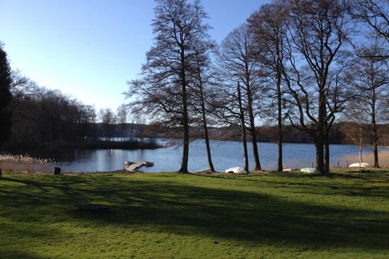 Skärbäcks Gård är beläget på näset mellan Skärsjön och Humsjön i Varbergs kommun, Halland.