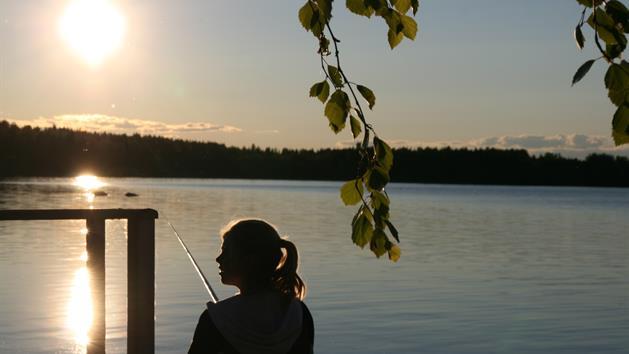 Kvällsfiske från brygga, Andreas Jakobsson