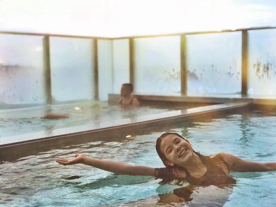 Kust hotell och spa pool