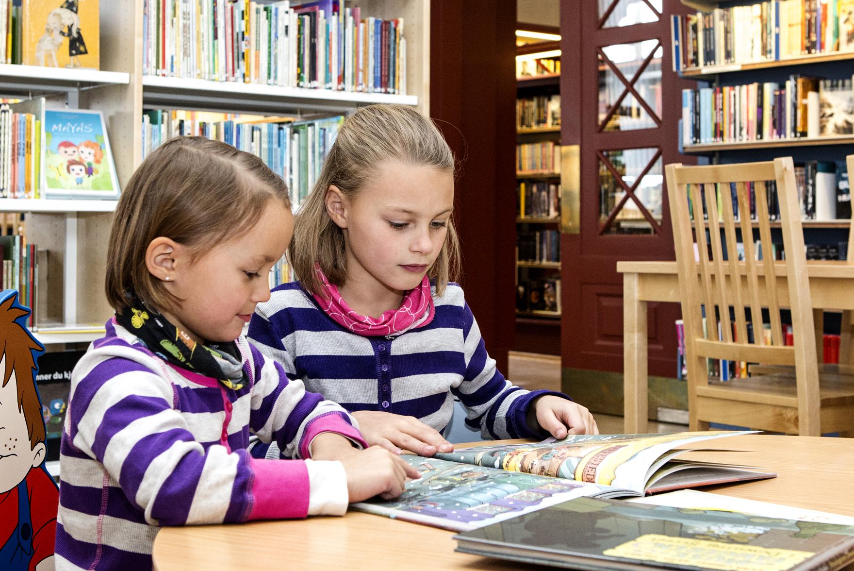På Rjukan bibliotek finnes lektyre for voksne og barn. , © Fotograf Jacobsen