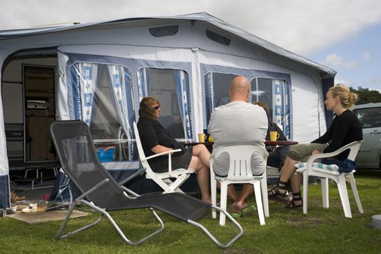 Campinggäster på Espeviks camping