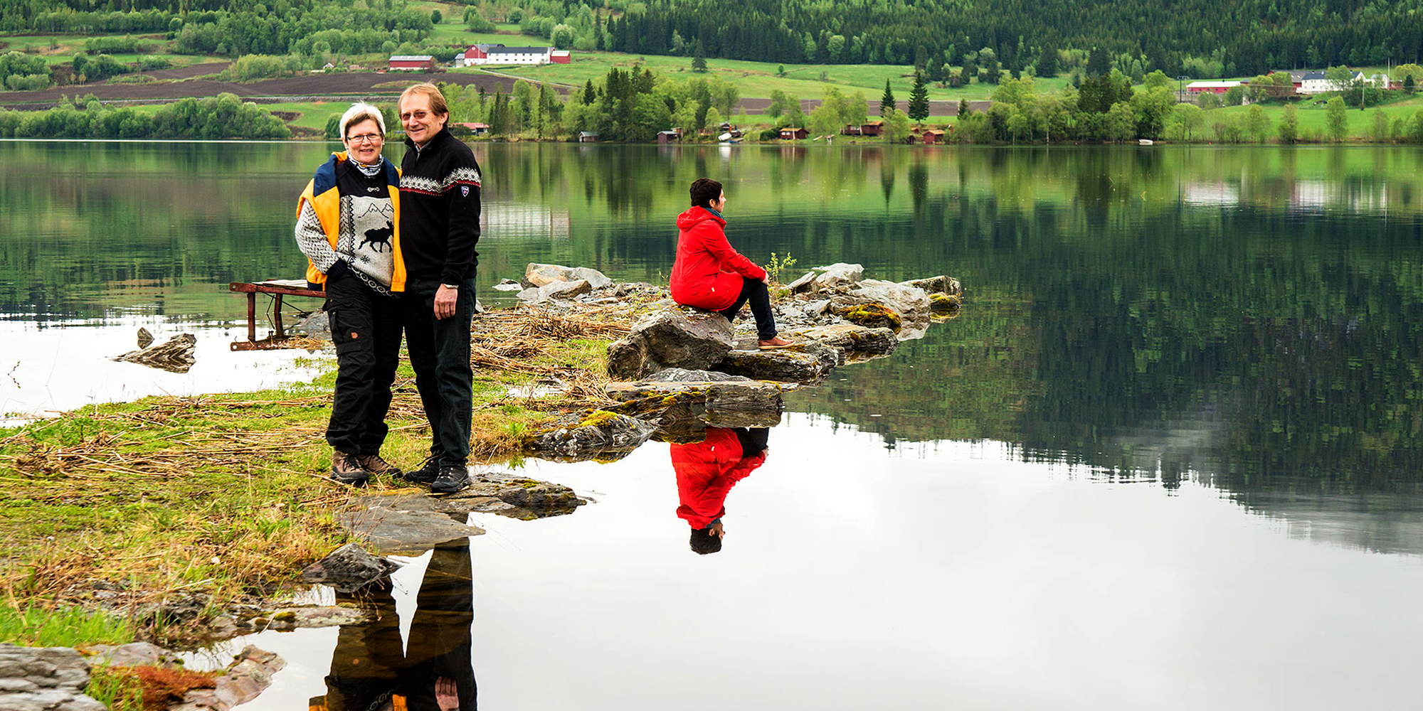 The hosts of Føllingstua camping by Lake Snåsa. Copyright: Steinar Johansen