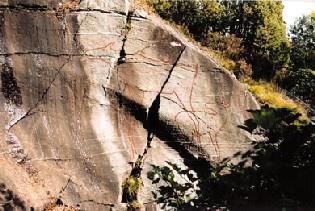 Petroglyphs at Stykket