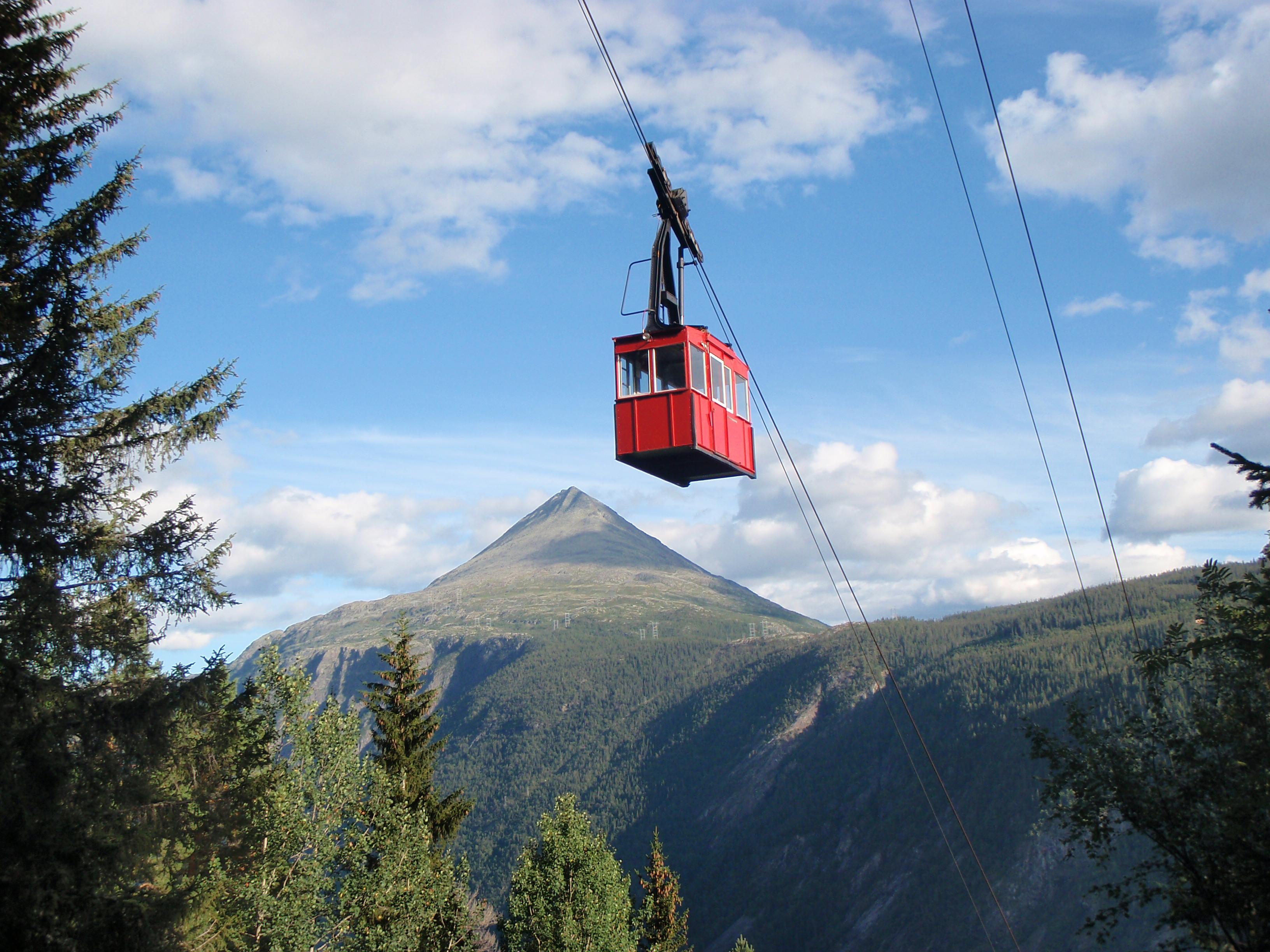 Krossobanen frakter deg opp til startpunktet 883 moh.  , © Willy Kittelsen