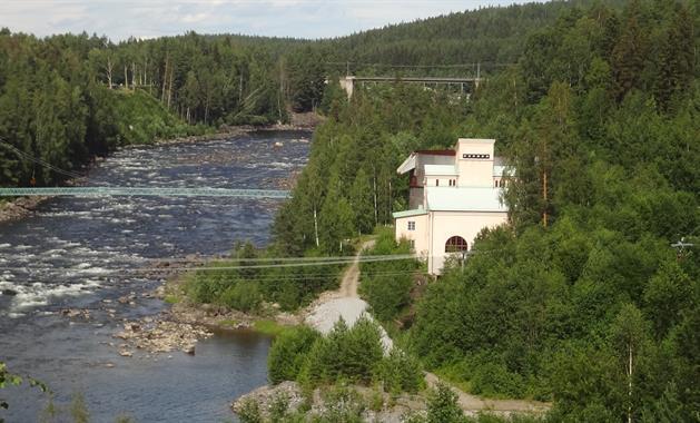 Sikfors Kraftverksmuseum Exteriör Vy, Erik Lundström