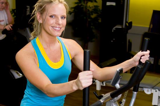 Gymmet på Fregatten Högst Upp är utrustat med det senaste inom rehab och fitness