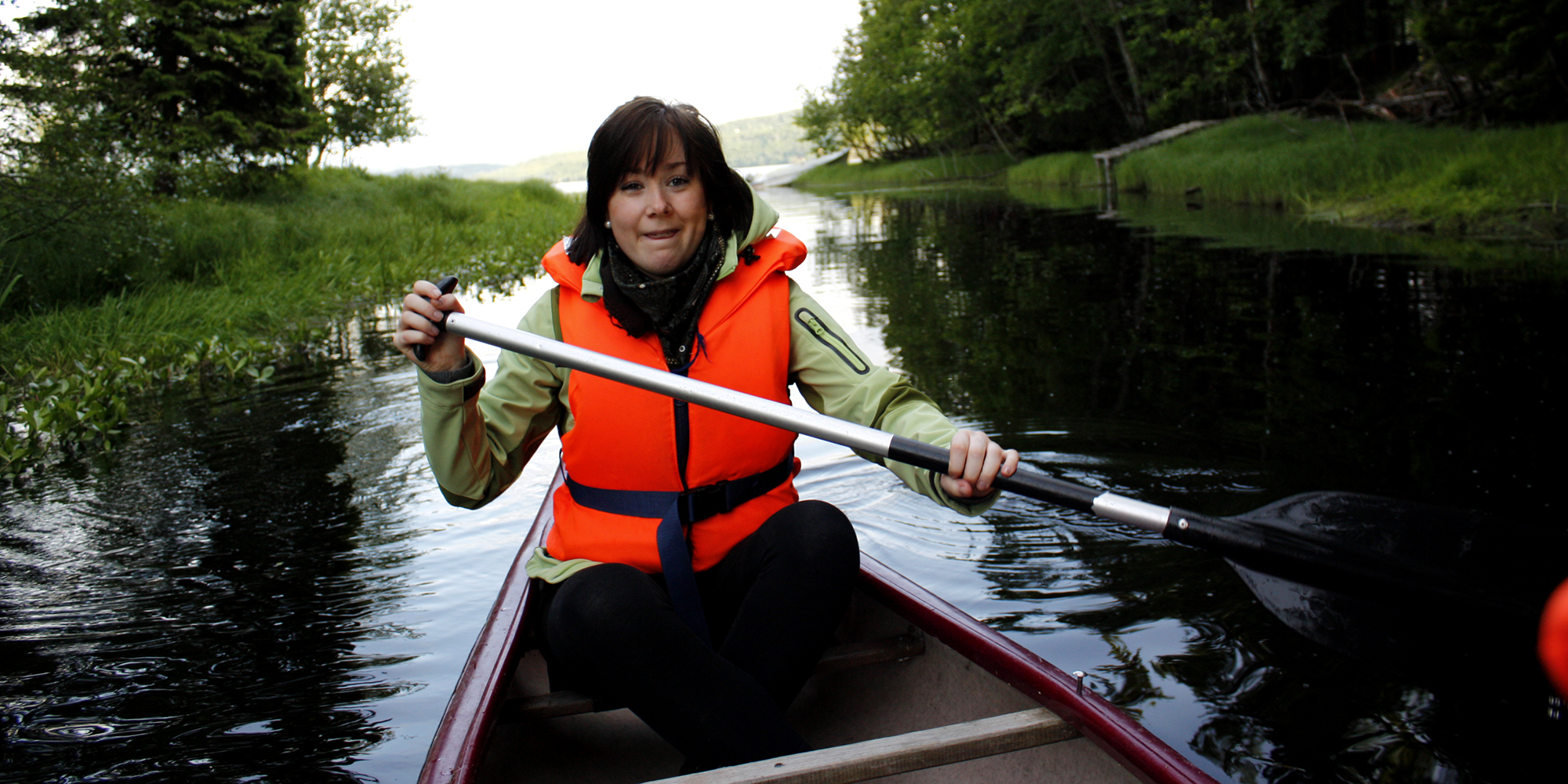 Canoeing at Lake Snåsa by Føllingstua. Copyright: Føllingstua