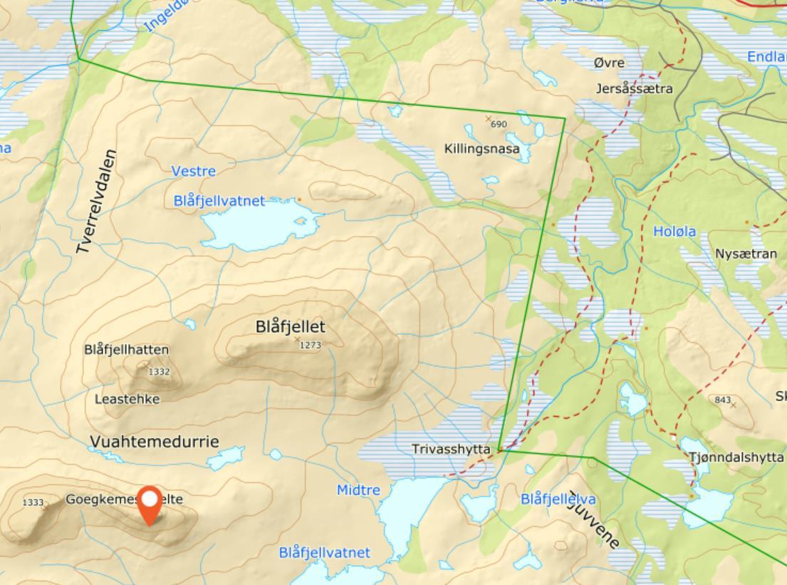 Hiking: 4-summit hike in Blåfjella-Skjækerfjella/Låarte-Skæhkere  National Park