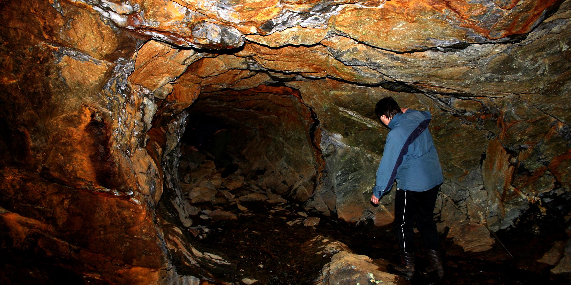 Mokk farm - in the mine. Copyright: Mokk gård