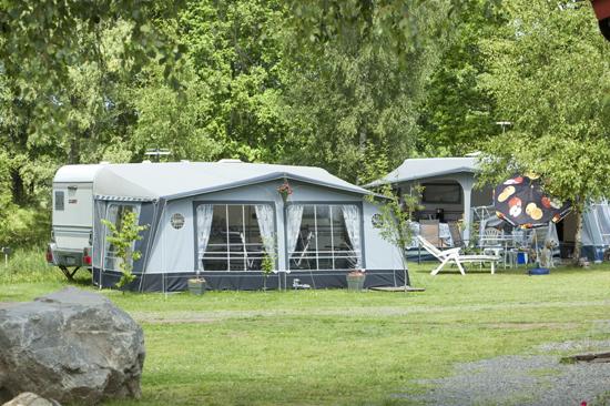 Natursköna campingplatser på Våxtorps Naturcamping och Stugby, 4 km från Våxtorp