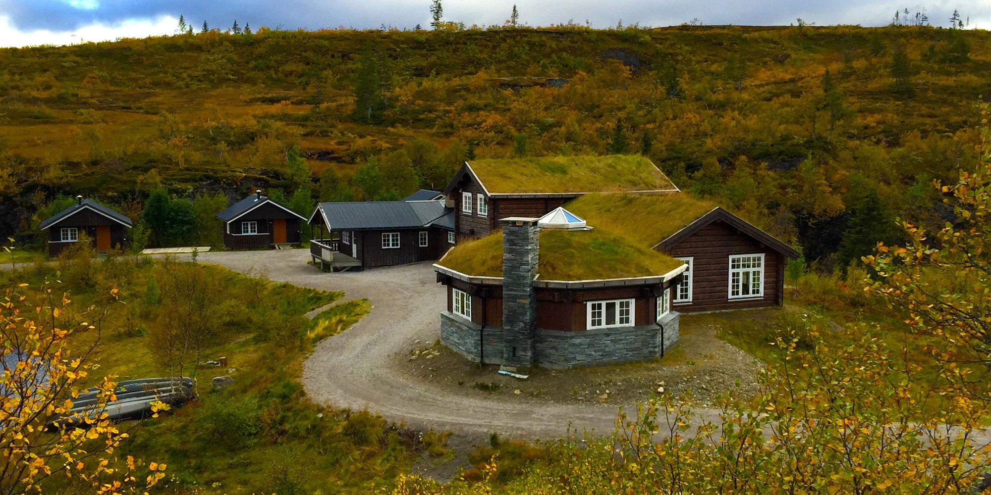 Ismenningen Lodge & Hytteutleie Hele annlegget. Copyright: Ismenningen