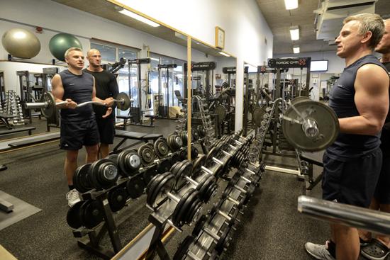 Möjlighet att träna ges i friskvårdsgymmet på Folkhälsocentrum i Laholm