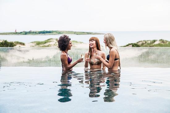 The Spa på Hotel Tylösand utanför Halmstad erbjuder spaupplevelse med havsutsikt