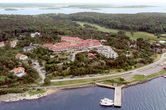 Säröhus Hotell och Konferens ligger vid havet, strax söder om Göteborg