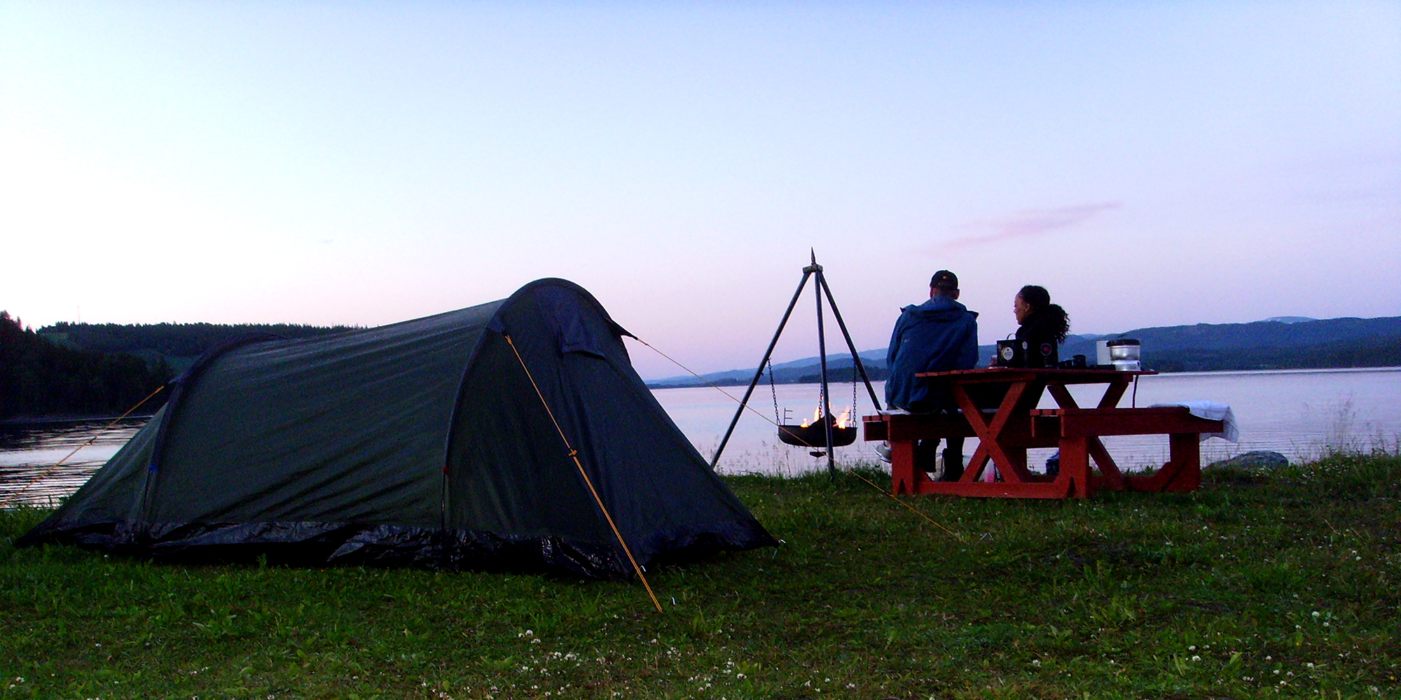 Tenting at Føllingstua by Lake Snåsa. Copyright: Føllingstua Camping