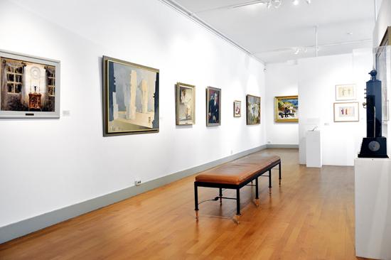 I konstsamlingen på Länsmuseet Halmstad ingår såväl bildkonst som design och formgivning, folkkonst och kyrklig konst