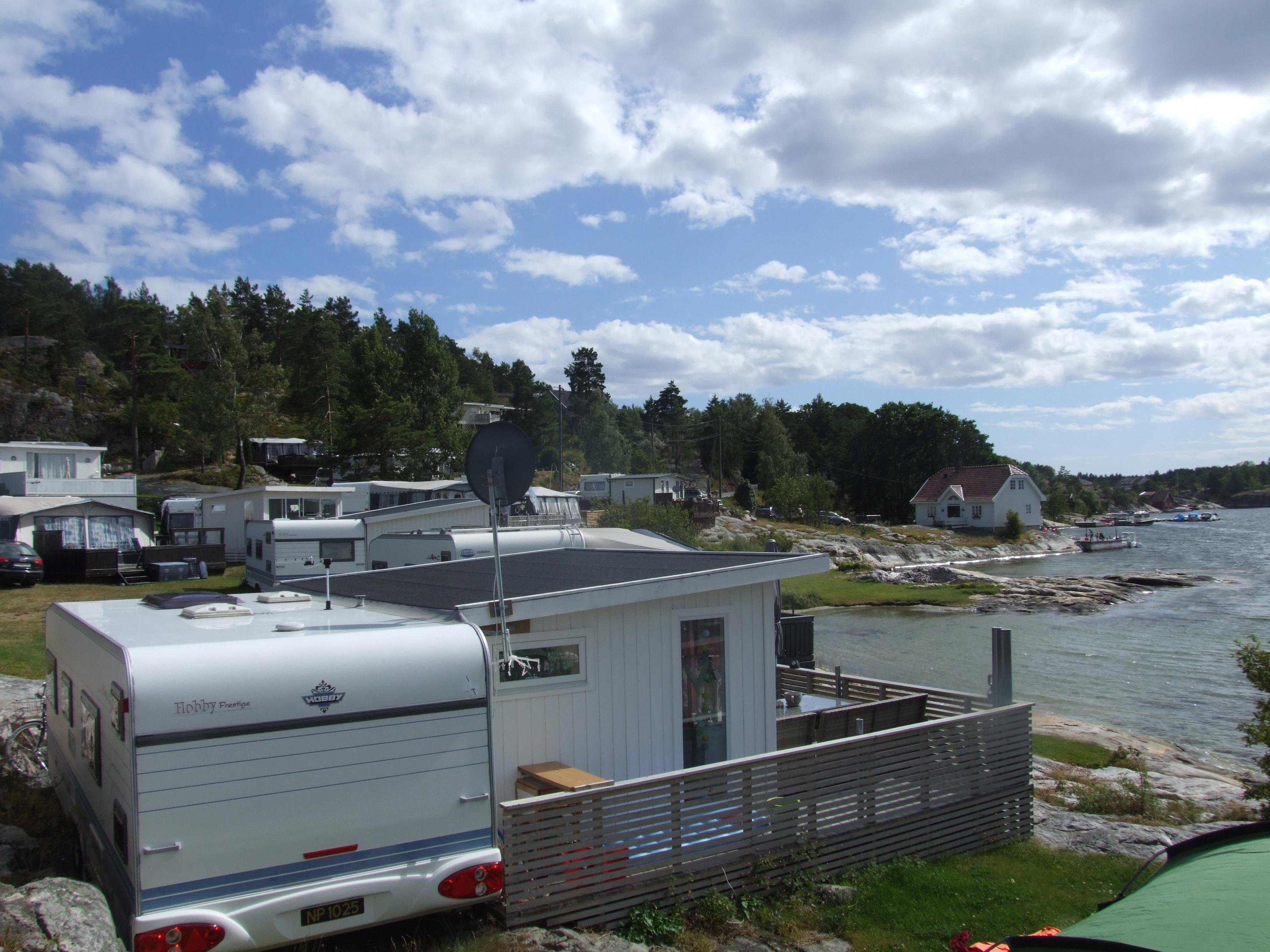 Kjønnøya camping i på Kjønnøya i Bamble.