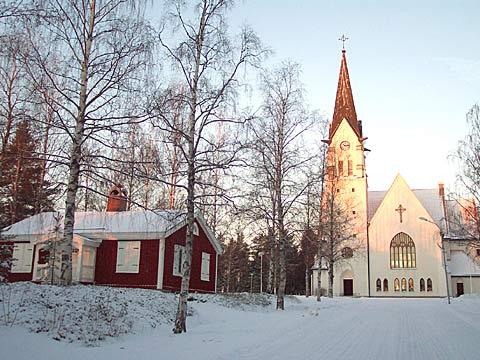 Hortlax kyrka vinter