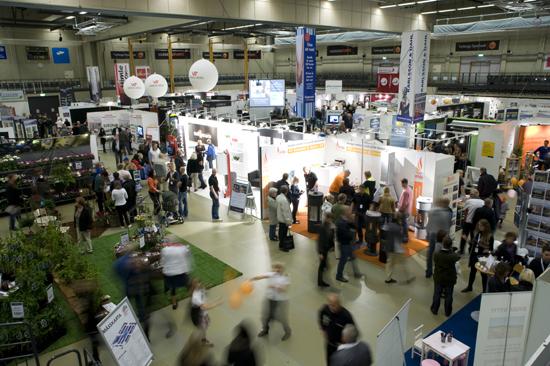 Välbesökt mässa i den 2000 kvm stora utställningslokalen på Varberg Event.